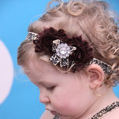 Check out this item in my Etsy shop https://www.etsy.com/listing/238274072/cheetah-print-shabby-flower-headband