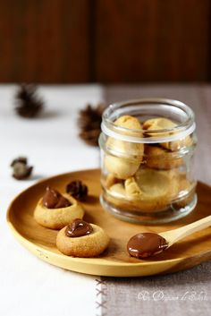 Biscuits sablés au chocolat blanc et pâte à tartiner au chocolat