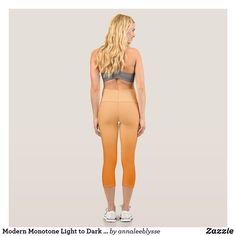 Modern Monotone Light to Dark Orange Capri Leggings Capri Leggings, Yoga Leggings, Yoga Pants, Ombre Leggings, Orange Ombre, Orange Background, Light Orange, Dog Design, Fashion Outfits