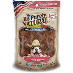 Loving Pets Products It's Purely Natural Chicken Tenders Dog Treat, 4-Ounce >>> Wow! I love this. Check it out now! : Dog treats