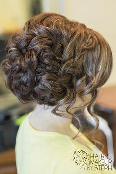 braided wedding hair.