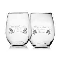When Calls the Heart Wine Glass (set of 2)