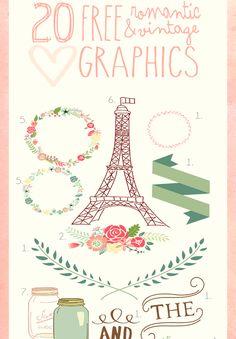 14 Lovely Free Graphics for Digital Design