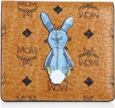MCM Piccola pelletteria, Rabbit Card Wallet Cognac cognac fashionette arancione Pelle