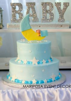 Mariposa Event Decor 's Baby Shower / - Photo Gallery at Catch My Party Fiesta Shower, Shower Party, Baby Shower Parties, Baby Shower Cakes, Baby Boy Shower, Baby Shower Gifts, Fancy Cakes, Cute Cakes, Beautiful Cakes