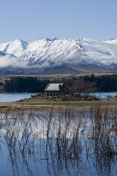 Church of the Good Shepherd, Lake Tepako, South Island, New Zealand. Stayed in a campground next to the lake.