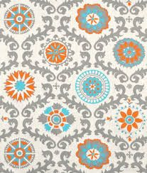 turquoise and orange fabric - Google Search
