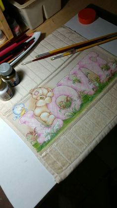 Tatty Teddy, English Paper Piecing, Painting For Kids, Fabric Painting, Hello Everyone, Pencil Drawings, Stencils, Embroidery, Quilts