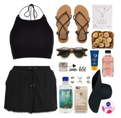"""""""Just Beachy"""" by lola-styleson ❤ liked on Polyvore featuring New Look, River Island, Billabong, Forever 21, Dogeared, Bobbi Brown Cosmetics, Topshop, Casetify and Nivea"""