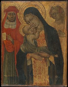 Madonna and Child with Saints Jerome and Agnes - Giovanni di Paolo