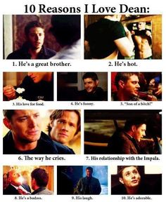 Only SOME of the reasons I love Dean <3