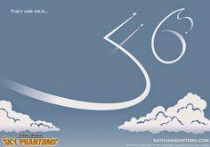 Teaser art #1 for Keithan Quintero and the Sky Phantoms by Francisco Muniz