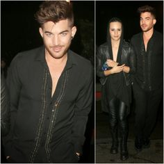 Adam Lambert's Saint Laurent Crystal Embellished Shirt - Chateau Marmont Night Out