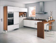 Cuisine contemporaine MOBALPA - Construction maison contemporaine ...