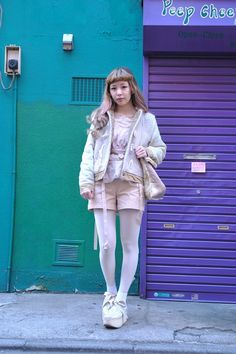 Harajuku Fashion, Japan Fashion, Kpop Fashion, Kawaii Fashion, Fashion Outfits, Fashion Ideas, Geek Chic Outfits, Cute Outfits, White Tights