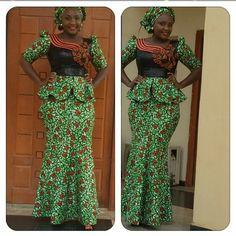 Ankara skirt and Blouse Design . Ankara skirt and Blouse Design African Dresses For Women, African Print Dresses, African Print Fashion, African Attire, African Wear, African Fashion Dresses, African Women, African Prints, Ghanaian Fashion
