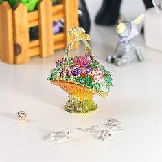 Metal Trinket Box Handmade Jewelry Storage Case Shell Figurine Valentine Gift