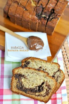 Banana Cake with Nutella Frosting - Shugary Sweets