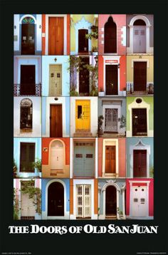 The Doors of Old San Juan - (Julia Bonet Poster :: PicassoMio) - We *loved* Old San Juan and it's forts. This poster was sold at several locations there, and I would really like to have it! ;-)
