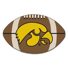 Iowa Hawkeyes NCAA Football Floor Mat (22x35)