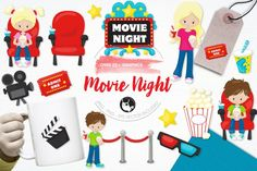 Movie Nightpack features over 22graphic elements and is perfect for invitations, greeting cards, product design, tags, labels and so much more.