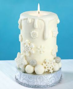 Candle Cake Winter Candle Cake · Candle Making Christmas Cake Decorations, Christmas Desserts, Christmas Baking, Christmas Treats, Christmas Cakes, Cupcakes, Cupcake Cakes, Shoe Cakes, Beautiful Cakes