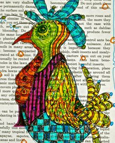 rooster drawing in marker mary vogel lozinak