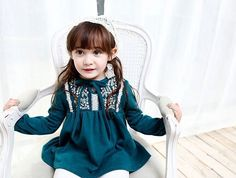 00045 TJ-6J2520 Free shipping 6 pcs/lot Wholesale 2014 new children's clothing color embroidered lace dress for girls http://www.aliexpress.com/store/1047972