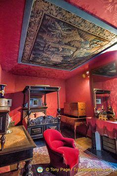 Victor Hugo's bedroom in Maison de Victor Hugo in Paris