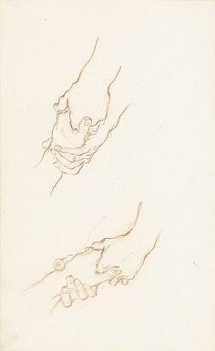 Twee studies van een hand aangevat door andere handen, Bernard Picart, 1683…