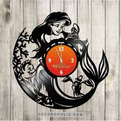 Little Mermaid decal and clock image 1