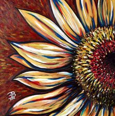 Sunflower Acrylic on Canvas 36 x 36 2008 For my mother. Sunflower Drawing, Sunflower Art, Sunflower Canvas Paintings, Diy Canvas Art, Painting Inspiration, Painting & Drawing, Chalk Painting, Art Photography, Creations