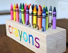 Ana White | Build a Easy Scrap Wood Crayon or Pencil Block Holder