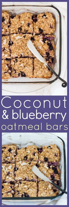 Healthy, filling and delicious, these Coconut and Blueberry Oatmeal Bars tick all the boxes for a great grab-n-go breakfast, a lunch box snack or an afternoon pick me up. via @wholefoodbellies