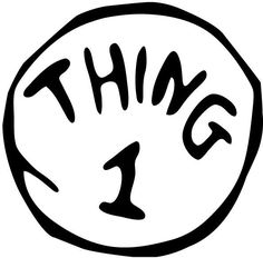 dr seuss coloring pages thing 1 and thing 2 clipart panda free rh pinterest com Black and White One and Thing Two Thing thing one and thing two clipart