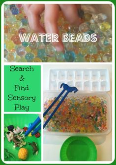 Water Beads Sensory Play Search