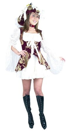 Get ready to sail the high seas in high style with our Lacey Lady Burgundy Womens Pirate Costume! This lacy pirate dress is both flirty and feminine Pirate Dress, Pirate Day, Female Pirate Costume, Pirate Halloween Costumes, Gypsy Costume, Fancy Dress, Pirates, High Fashion, Burgundy