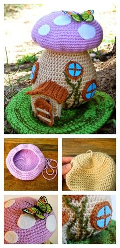 Crochet Adorable Fairy House Free Pattern