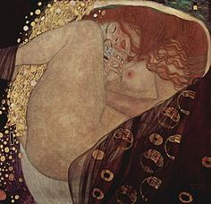 "Gustav Klimt (1862-1918) - Danaë. Oil on Canvas. Circa 1907-1908. 30.3"" × 32.7"" (77cm x 83cm). Galerie Würthle, Vienna, Austria."