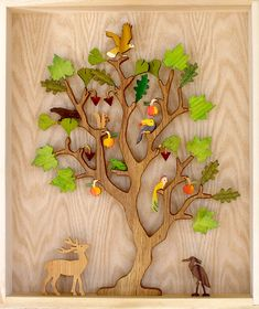 wooden Tree of Life, folkart made in America