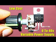 Hi Friends,Today In This Video I Have Shown Variable Voltage Regulator Circuit Using Only One Mosfet If You Have Enjoyed This Video Then Pleas Like,Share,Com. Electronics Mini Projects, Electronic Circuit Projects, Electrical Projects, Electronics Components, Diy Electronics, Robotics Projects, Arduino Projects, Mechatronics Engineering, Electronic Schematics