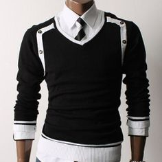 #mens fashion #mens style #mens clothing #mens knit (DOUBLJU:1321)