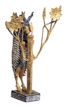 Goat caught in a thicket. Ur Irak/Mesopotamia. 2600 BC  This artifact is from the same place that God called Abram out of in Genesis to start a new Nation. The Israelite/Jewish nation that would produce Christ Jesus.