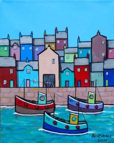 Buy Sea three, Acrylic painting by Paul Bursnall on Artfinder. Discover thousands of other original paintings, prints, sculptures and photography from independent artists. Hand Painting Art, Acrylic Painting Canvas, Fabric Painting, Stone Painting, Paintings For Sale, Original Paintings, Seaside Art, Button Art, Naive Art
