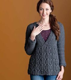 A cozy pullover for chilly winter days. Knit the Delight Pullover with this pattern download.