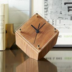 West Elm mid-century desk clock $59