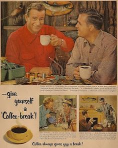 coffee ad with John Wayne