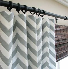 Grey Chevron curtains for my new living room. I believe I will be DIYing these