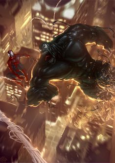 Spider-man and Venom by Mehmet Ozen a.k.a. Memed on Deviant Art