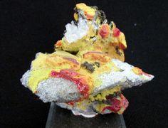 Mineral Specimen  Realgar, Orpiment, Quartz - Palomo Mine, Peru  by NearEarthExploration, $40.00